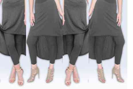 Verso Fashion - Pair of high low skirt leggings - Save 68%