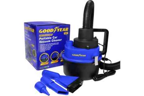 Groupon Goods Global GmbH - Goodyear 12V Wet and Dry Car Vacuum Cleaner - Save 52%