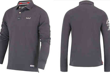 Stallion - Stallion Mens Long Sleeve Polo Shirt Choose Sizes S To XL - Save 53%