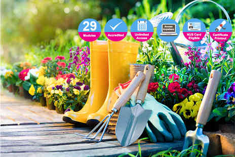 New Skills Academy - Online garden design and maintenance diploma course - Save 95%