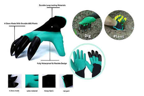 Paperdollz - Pair of claw garden digging gloves - Save 80%