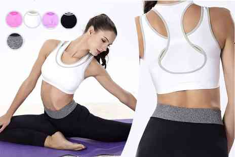 Trifolium Lingerie - Layered racerback padded sports bra choose from five colours - Save 81%