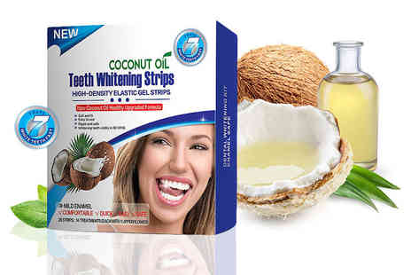 KAV Plus - Box of natural coconut oil teeth whitening strips - Save 85%