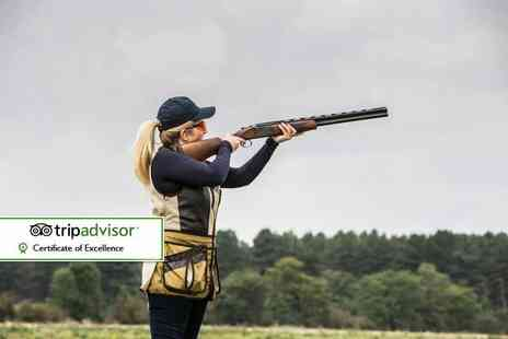 Whitewater Shooting Ground - Clay shooting experience for one with 15 clays or with 25 clays - Save 32%