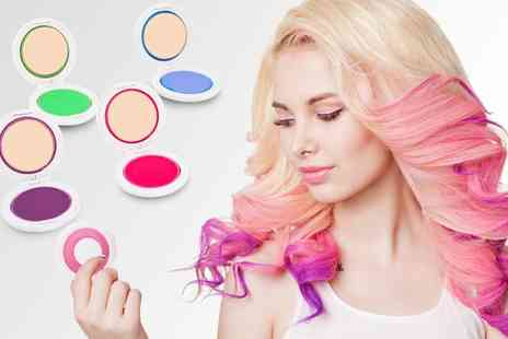 Groupon Goods Global GmbH - One, Two or Four Four Piece Temporary Hair Chalk Sets - Save 63%