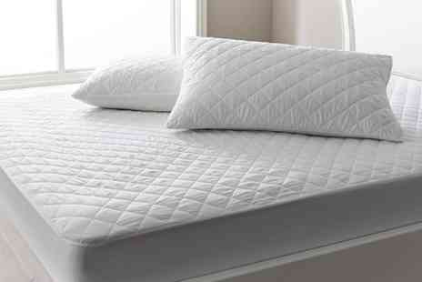 Groupon Goods Global GmbH - Soft Touch Quilted Mattress Protector, Two Pillow Protectors or Bundle - Save 60%