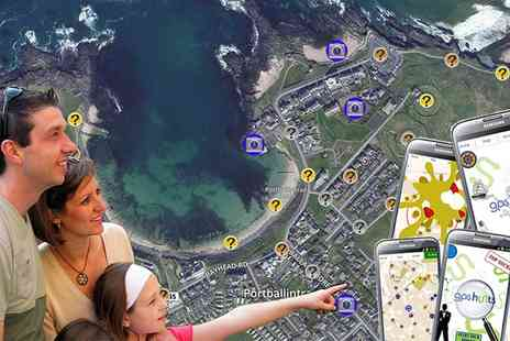 Huntfun - Fully interactive GPS treasure hunt of choice for up to six - Save 56%