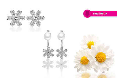 Solo Act - Daisy earring duo set two pairs - Save 86%