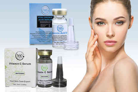Seatedtoad - Hyaluronic acid and vitamin C serum pack - Save 92%