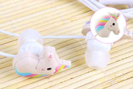 London Exchain Store - Pair of unicorn shaped earphones - Save 75%