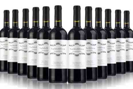 San Jamon - Six or 12 Bottles of Spanish Valdeoliva Tempranillo Red Wine - Save 39%