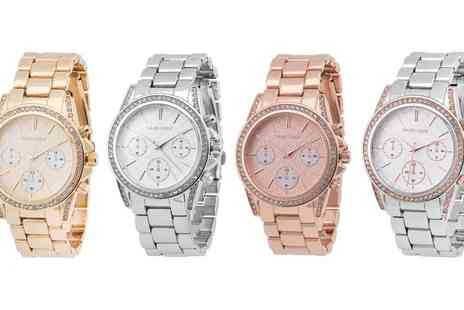 Groupon Goods Global GmbH - David Lenox Womens Crystal Watch With Free Delivery - Save 68%
