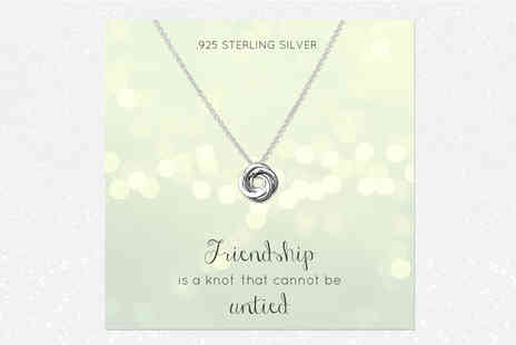 Birdells - Sterling silver knot necklace - Save 88%