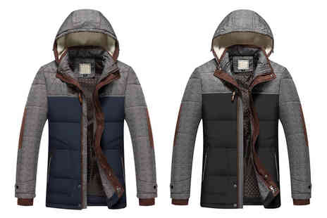 Bluebell Retail - Mens padded toggle jacket - choose from two colours and seven sizes - Save 0%