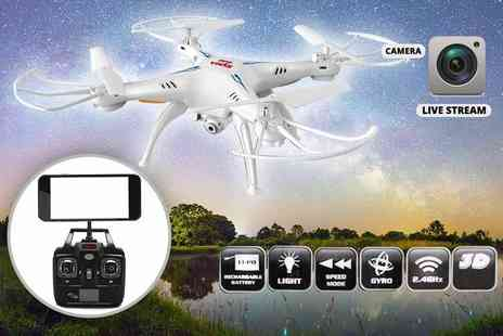 Vinsani - Six axis quadcopter stealth drone with hd camera - Save 70%