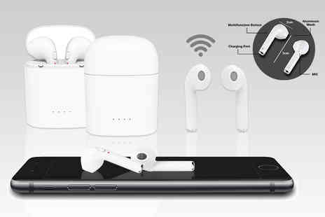 Buy Something - Pair of Apple compatible wireless earbuds with charging case - Save 79%