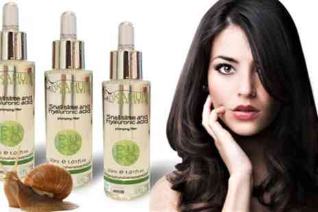 Groupon Goods Global GmbH - One, Two or Three Bottles of Kahuna Benessere Snail Slime and Hyaluronic Acid Serum - Save 88%