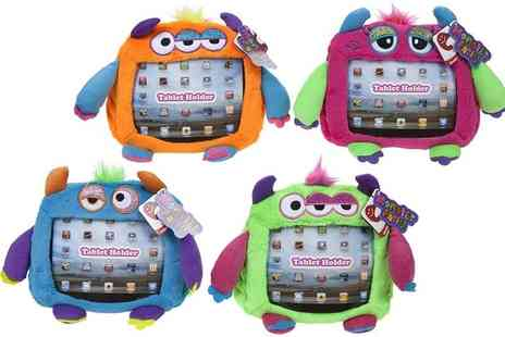 Groupon Goods Global GmbH - One, Two or Four Childrens Soft Plush Monster Tablet Holders - Save 67%