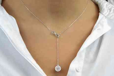 Groupon Goods Global GmbH - One or Two Philip Jones Infinity Necklaces with Crystals from Swarovski - Save 80%