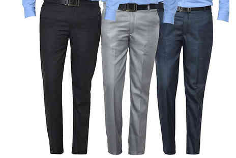 Morag online - 3 Pack of Mens Formal Trousers Available in 6 Colour Combinations - Save 70%