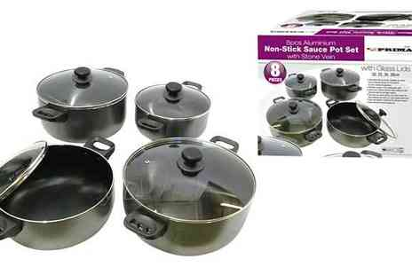 Direct 2 public - 8 Piece Non Stick Aluminium Pot Set - Save 31%