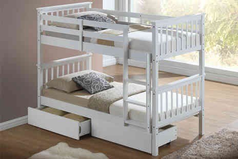 Majestic Furnishings - Childrens bunk bed or bunk bed with additional mattress - Save 64%