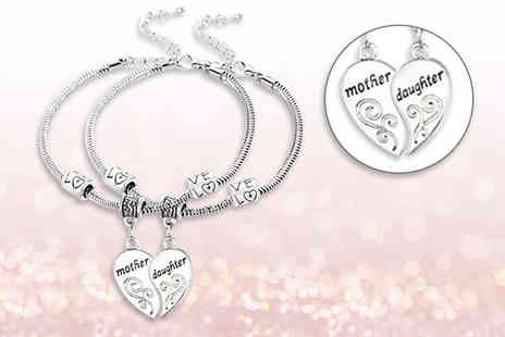 My Boutique Store - Pair of matching mother and daughter charm bracelets - Save 86%