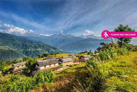 Himalayan Social Journey - 12 day Nepal trekking holiday with volunteering experience to help earthquake victims, selected meals, English speaking guides and more - Save 34%