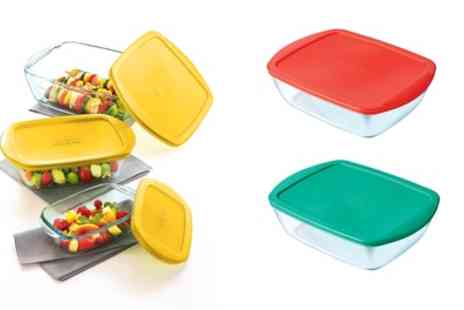 Groupon Goods Global GmbH - Pyrex Glass Cook and Store Three Piece Set - Save 57%