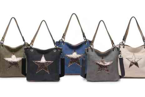 Groupon Goods Global GmbH - Womens Canvas Star Tote Bag - Save 0%