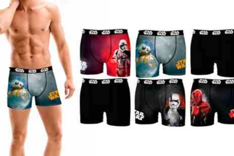 Groupon Goods Global GmbH - Four or Six Pack of Star Wars Boxer Shorts - Save 55%