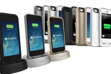 Groupon Goods Global GmbH - Mophie Juice Packs for iPhone 5, 5s And Se with Optional Desktop or Car Charging Docks - Save 48%