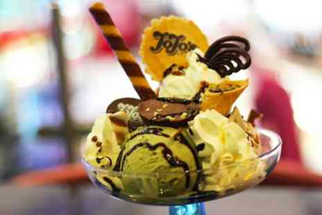 JoJos Gelato - Waffle, Crepe or Sundae with Hot Drink for Two or Four - Save 53%