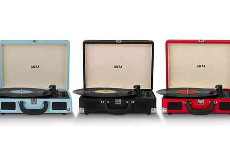 Groupon Goods Global GmbH - Akai Bluetooth Rechargeable Turntable - Save 60%