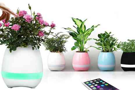 Groupon Goods Global GmbH - One or Two Flower Pot Wireless iPhone Bluetooth Speakers - Save 68%