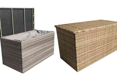 Groupon Goods Global GmbH - Rattan Effect Cushion Storage Box With Free Delivery - Save 21%