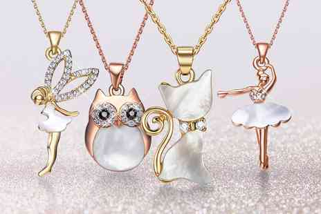 Neverland Sales - One or Two Neverland Sales Character Necklaces with Crystals from Swarovski With Free Delivery - Save 83%