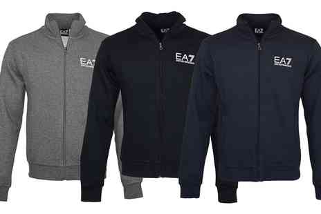 Groupon Goods Global GmbH - EA7 Emporio Armani Mens Core ID Funnel Neck Zipup Track Jacket With Free Delivery - Save 0%