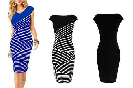 Groupon Goods Global GmbH - Striped Bodycon Dress in Choice of Colour - Save 0%