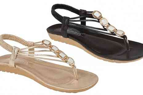 Groupon Goods Global GmbH - Womens Shalimar Jewelled Sandals in Choice of Colour - Save 0%