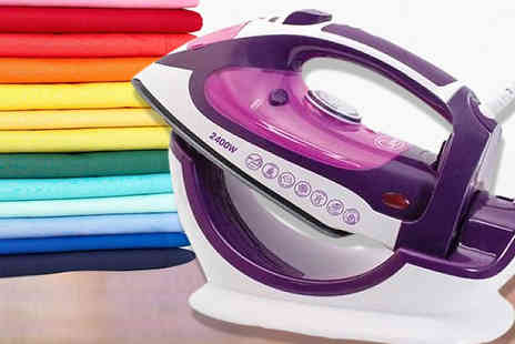 Groundlevel - 2 in 1 Cordless & Corded 2400W Steam Iron - Save 75%