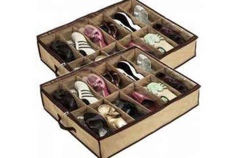 Richardson Group - 12 Tier Shoe Storage Organisers Choose Two or Four - Save 70%