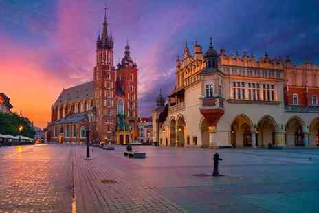 Top City Breaks - Two, three or four night Krakow break with return flights and Auschwitz tour - Save 55%