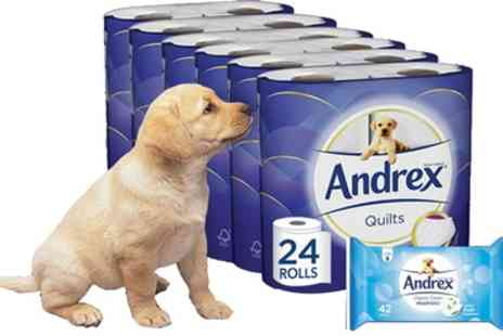 Groupon Goods Global GmbH - 24 48 or 96 Rolls of Andrex Toilet Paper - Save 47%
