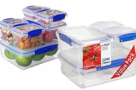 Groupon Goods Global GmbH - One or Two Sets of Sistema Klip It Storage Containers - Save 63%