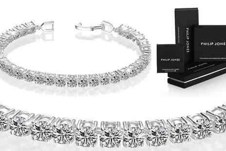 Groupon Goods Global GmbH - One or Two Philip Jones Tennis Bracelets with Crystals from Swarovski - Save 83%