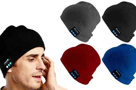 Groupon Goods Global GmbH - Sports and Outdoors Beanie with Built In Headphones - Save 68%
