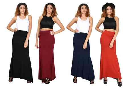 Groupon Goods Global GmbH - Be Jealous Stretch Flared Swing Maxi Skirt - Save 60%