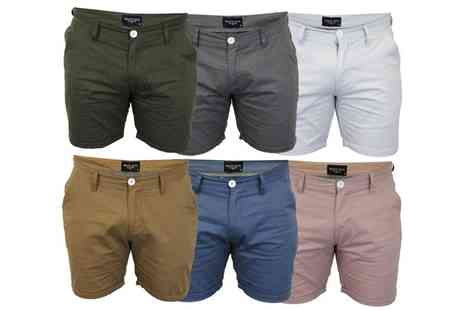 Groupon Goods Global GmbH - Brave Soul Mens Cotton Chino Shorts - Save 0%