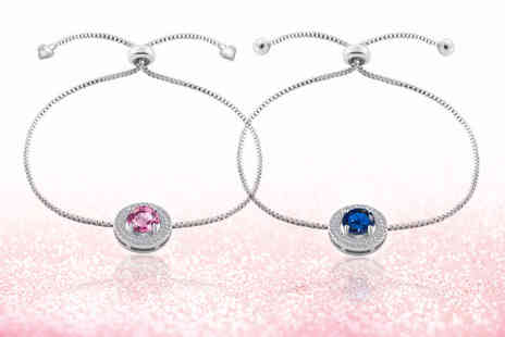 Your Ideal Gift - Brilliant cut created sapphire friendship bracelet - Save 88%